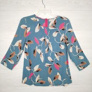 Boden viscose blouse leaf print size US 10